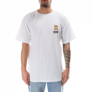 Moschino t shirt bianca con orsetto