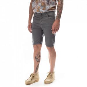 Outfit bermuda cotone uomo grigio