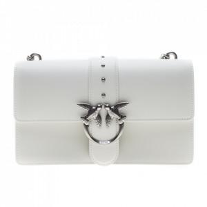 Pinko borsa tracolla classica love birds bianca