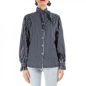 Minimum camicia donna cotone a righe