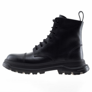 Brimarts black lace-up combat boots