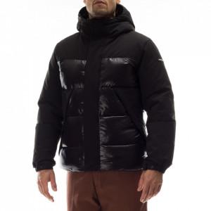 Freedomday man black short down jacket