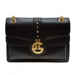 Gaelle borsa nera tracolla oro