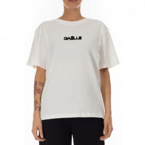 Gaelle t-shirt bianca con logo