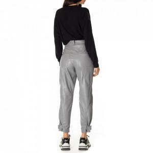 Jijil-pantalone-in-ecopelle-grigio