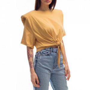 Jijil yellow knotted t-shirt