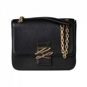 Karl Lagerfeld black autograph bag