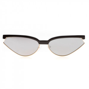 Leziff mirrored pointed sunglasses