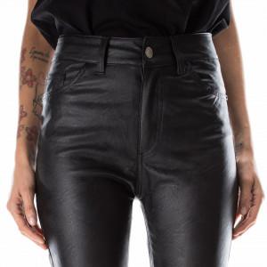 pantalone ecopelle-nero