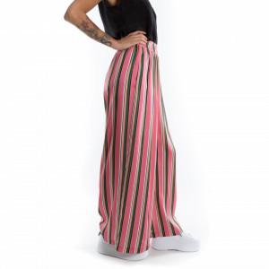 pantalone palazzo a righe colorate