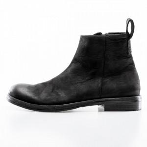 Marcel Martillo man black leather ankle boots