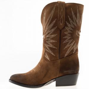 Mezcalero camperos leather boots