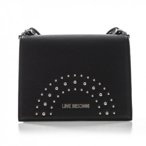 Moschino borsa piccola in pelle borchiata