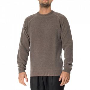 Outfit maglia in lana girocollo marrone