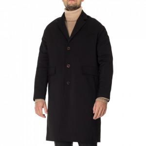 Outift cappotto nero lungo