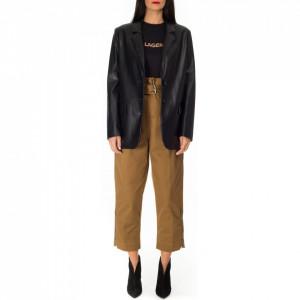 Pinko black eco-leather jacket