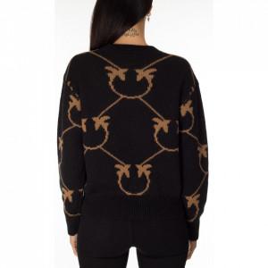 pinko-maglione-nero-logato