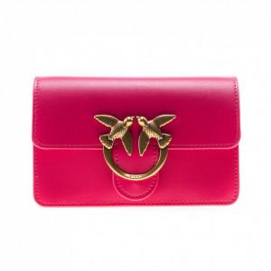 Pinko mini fuchsia shoulder bag