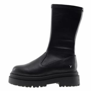 Windsor Smith black platform ankle boots