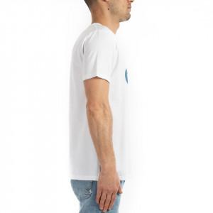 Wood Wood t shirt uomo bianca con scritta