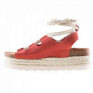Colors of California slave sandals with wedge heel
