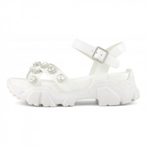 Colors of California white sandals with running sole
