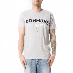 Commune de Paris t shirt uomo grigia