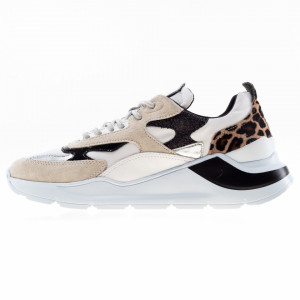 Date Fuga sneakers donna animalier bianche