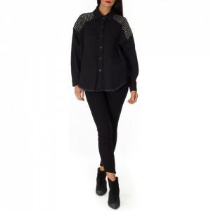 gaelle-woman-denim-shirt-with-studs