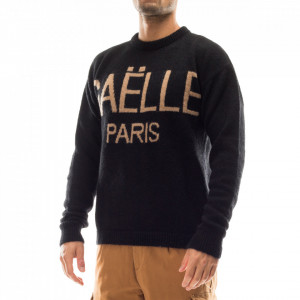 Gaelle maglione nero con logo uomo
