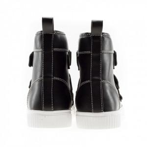 gaelle-man-sneakers-high-top-leather-black