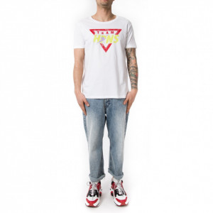 Happiness t shirt con scritta uomo