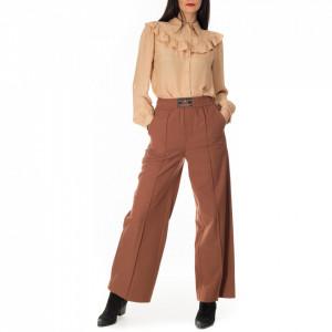 Isabelle Blanche pantalone a palazzo marrone