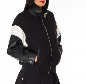 Jijil black bomber jacket  Varsity