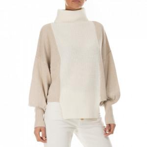 Jijil maglione lana collo alto bianco