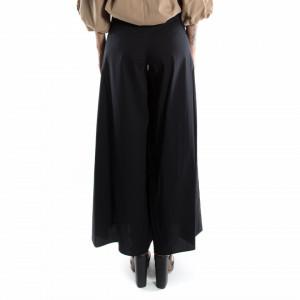 pantaloni a palazzo vita alta donna