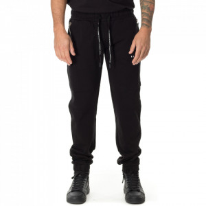 John Richmond black fleece trousers