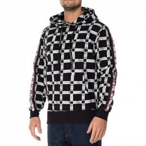 John Richmond hooded sweatshirt with all-over print