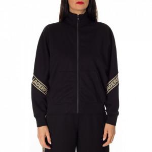 Karl Lagerfeld black sweatshirt with zip