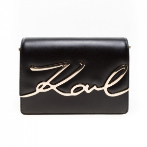 Karl Lagerfeld borsa signature nera