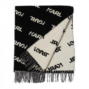 Karl Lagerfeld sciarpa logata bicolor
