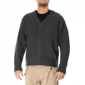 Minimum gray wool cardigan