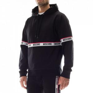 Moschino black hooded sweatshirt