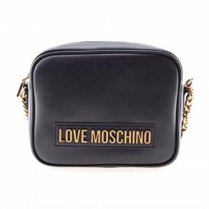 Moschino Love borsa nera con tracolla catena bronzo