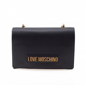Moschino Love borsa tracolla nera con catena