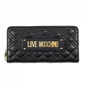 Moschino Love portafoglio nero trapuntato