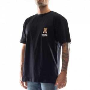 Moschino t-shirt nera con orsetto