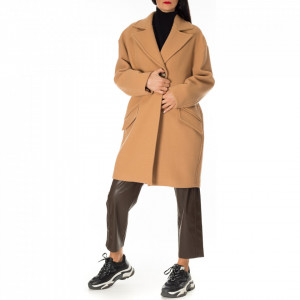 Pinko cappotto beige cammello