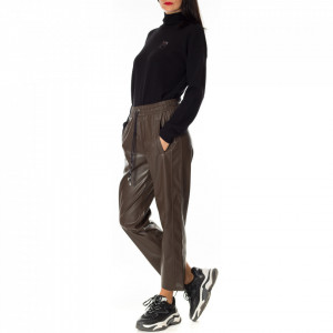 pinko-ecoleather-brown-pant