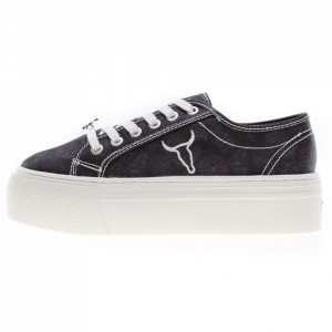 Windsor Smith Ruby sneakers platform bandana nero